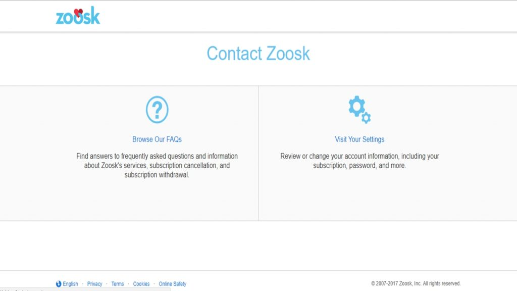 How Do i Contact Zoosk Customer Support Service Phone Number